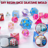 DIY Crystal Epoxy Mold Dice Fillet Shape Digital Game Silicone Mould