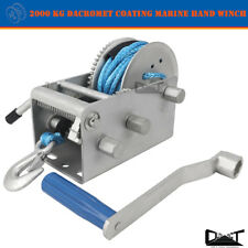 2000 KG Marine HAND WINCH ANTI-CORROSION COATED 3 Speed 7mm x 10M WINCH ROPE 4WD