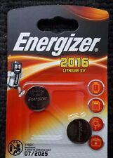 ENERGIZER 2016 LITHIUM 3V BATTERY - 2 PACK