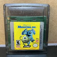 Monsters, Inc. (Nintendo Game Boy Color, 2001)-Cartridge Only! Authentic-Tested!
