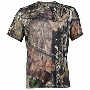 Men's Mossy Oak MEDIUM Camouflage Short Sleeve Hunting T-Shirt Shirt Camo
