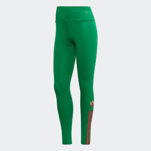 Adidas Women's Adicolor 3D Trefoil Tights, Green / Multicolor
