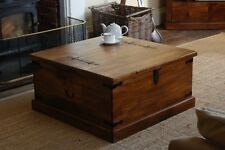 JALI MANGO SQUARE TRUNK CHEST BLANKET BOX STORAGE SOLID WOOD INDIAN FURNITURE
