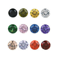 10Pcs Round Cut Zircon Synthetic Gems Simulate Diamond Loose Gemstones 4-8mm DIY