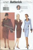 B 6707 sewing pattern JACKET SKIRT STOLE sew Diahann Carroll size 18-20-22 UNCUT