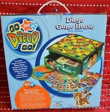 Nick Jr Diego Game House 8 Games Checkers Bingo Tic Tac Toe Dominoes Wooden BOX
