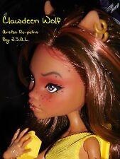 ☆SALE☆OOAK Monster High Clawdeen Wolf Collector Doll Repaint by artist JSAL