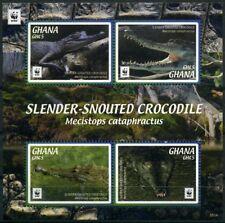 2016 Ghana, Slender-Snouted Crocodile, WWF,  souvenir sheet, MNH