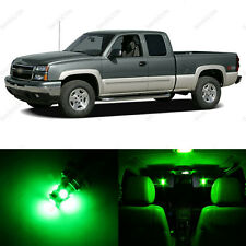 14 x Green LED Interior Light Package For 1999 - 2006 GMC Sierra