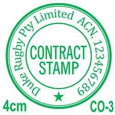 Personalised Custom Self Pre ink Common Seal Company CONTRACT stamp 40mm CO-2