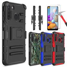 For Samsung Galaxy A21 A71 5G A51 Case Kickstand Belt Clip / HD Screen Protector