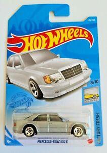 Hot Wheels Mercedes-Benz 500E Silver #145 145/250 2021 Factory Fresh 8/10