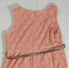 a198e7df4cd89 Motherhood Maternity Pink Lace Rosette Overlay Sleeveless Fitted Dress Small