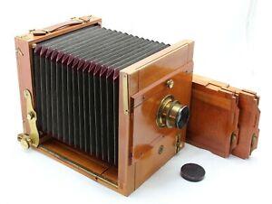 Rare, antique ca.1910, Wooden Bellows 13x18 Plate Camera, Walter Talbot Berlin
