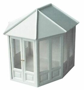 1/12 Streets Ahead Dolls House White Victorian conservatory DH507