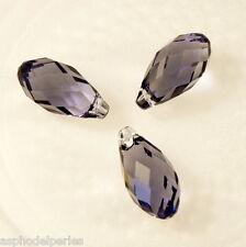 2 gouttes en cristal de Swarovski 6010 Tanzanite 13x6 mm