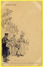 """cpa Illustrateur Paul KAUFFMAN """"CAMELOTS de PARIS"""" Vendeur de BALLON Côté NEUDIN"""