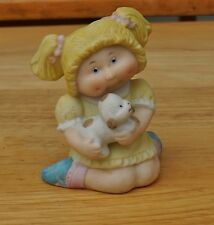 """Cabbage Patch figurine Doll with Puppy 3"""" excellent"""