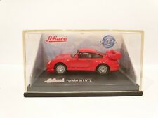 SCHUCO Porsche 911 GT 2 / Scale 1:72 / Red colour / Boxed