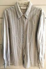 LIZ CLAIBORNE L BLUE STRIPED SHIRT EMBROIDERED BLOUSE 100% COTTON Holiday