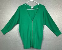 Cabi Style 5142 Women's Banner Green Zipper Front Cardigan Sweater MSRP $109 M