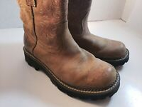 ARIAT FATBABY DISTRESSED BROWN LEATHER COWGIRL BOOTS #10001183 WOMEN'S 7.5B