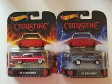 HOT WHEELS 2015 RETRO ENTERTAINMENT CHRISTINE '58 PLYMOUTH FURY & '67 CAMARO LOT