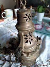 ENCENSOIR d'Eglise en laiton fondu, fin XIXème, encens, brûle parfum, religion
