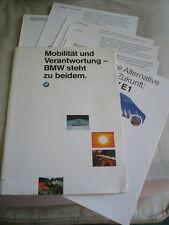 BMW E1 brochure pack 1991 German text