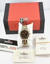 Tissot T-Sport Two-Tone Stainless Steel Black Face Quartz Watch T17.2.486.55