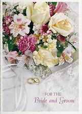 Wedding  Card Occasional Cards For Bride & Groom Bridal Bouquet Rings