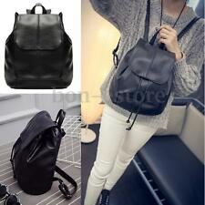 US Fashion Women Leather Backpack Shoulder Travel Satchel School Book Bag Black