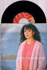 """ALICE IL VENTO CALDO DELL'ESTATE + SERA 1980 EMI ITALY 7""""45 GIRI"""