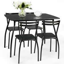 5 Pcs Dining Set Table And 4 Chairs Home Kitchen Room Breakfast Furniture