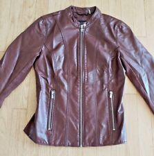 Black Rivet Women's,size small  brown faux leather jacket