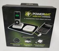 PowerMat PMM-2PB-B32 Wireless Charging Mat, PowerCube W/ Tips And Apple Dock