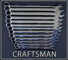 CRAFTSMAN HAND TOOLS 13pc FULL POLISHED Long Beam Combination METRIC Wrench set