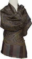 Pashmina  Schal 100% Kaschmir, Cashmere scarf  écharpe Foulard 34 x 167 Braun