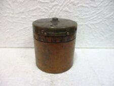 Ancien objet de mesure cylindrique  en bois et laiton