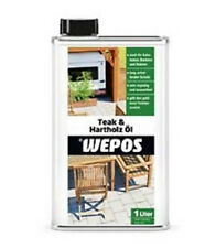 Wepos Teakholz Hartholz Öl 1l Holz Pflege Öl Holzschutz Teak