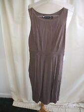 Ladies Dress Valerie Bertinelli UK 8 EUR 34 brown viscose, stretch, pull-on 1196