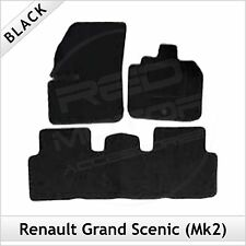 Renault Grand Scenic Mk2 2003-2009 Tailored Fitted Carpet Car Floor Mats BLACK