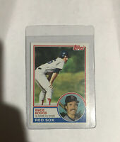 1983 TOPPS #498 WADE BOGGS ROOKIE CARD RC BOSTON RED SOX HOF MINT
