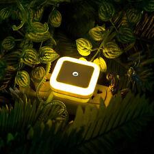 Auto LED Light Sensor Control Bedside Night Light Wall Lamp Bedroom Decor US EU