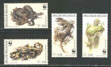 BELGIUM 2000, WILD ANIMALS: AMPHIBIANS, REPTILES, SNAKES, WWF, Sc 1798-1801, MNH
