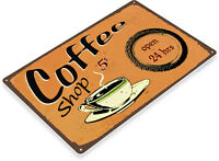 TIN SIGN Coffee Shop Metal Décor Wall Art Kitchen Store Bar Café A297