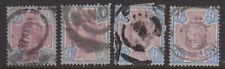 Great Britain GB QV Queen Victoria 1887 9d  Purple & Blue Jubilee x 4 Used