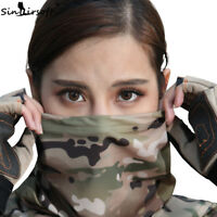 Tactical Camouflage Quick-Drying Scarf Neck Hood Half Face Mask Hunting Cycling