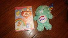CAREBEARS Soft Plush Teddy Toy RETRO TV green HEART SONG BEAR