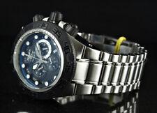 Invicta 50mm Subaqua Sport Swiss Movement Chronograph Black Dial SS Watch NEW